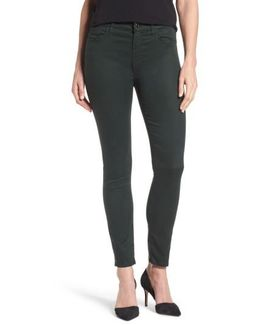 Sateen Skinny Ankle Jeans