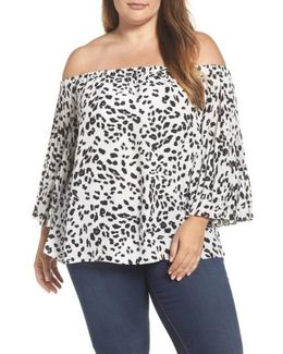 Animal Whispers Bell Sleeve Blouse