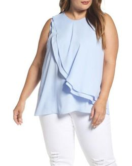 Tiered Ruffle Front Blouse