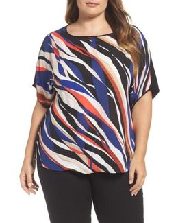 Graphic Stripe Dolman Tee