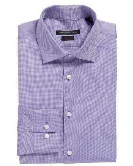 Slim Fit Solid Stretch Dress Shirt