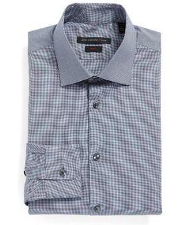 Slim Fit Stretch Solid Dress Shirt