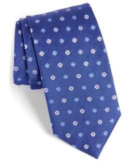 Neat Floral Medallion Silk Tie