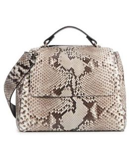 Small Sveva Genuine Python Satchel