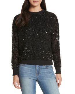 Helen Embellished Crewneck Sweatshirt