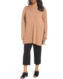 Ballet Neck Tencel Tunic Top