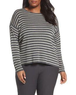 Stripe Tencel & Wool Sweater