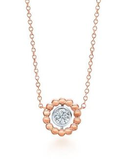 Dia Bead Diamond Pendant Necklace