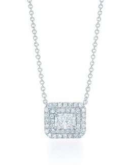 Radiant Cut Diamond Necklace