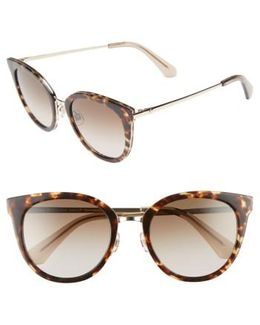 Jazzlyn 51mm Cat Eye Sunglasses - Havana/ Gold