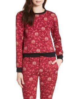Marylou Floral Jacquard Sweatshirt