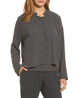 Mandarin Collar Boxy Top