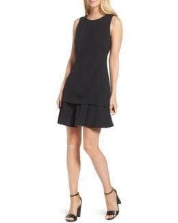 Crepe Fit & Flare Dress