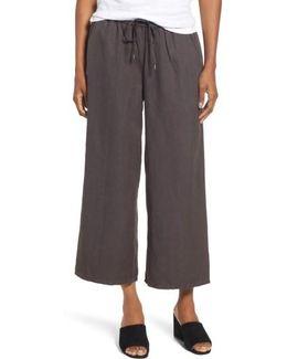 Tencel & Linen Crop Pants