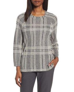 Plaid Tencel & Wool Boxy Sweater