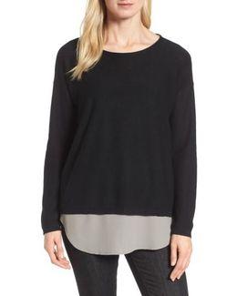 Tencel & Wool Boxy Sweater