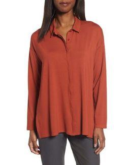 Button-up Jersey Top