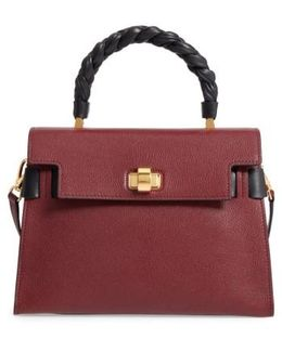 Madras Click Goatskin Leather Satchel