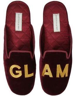 Glam Embroidered Slipper