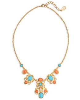 Adriatic Sea Jewel Collar Necklace