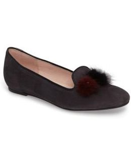 Wallis Genuine Fur Pompom Loafer