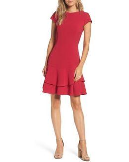 Stretch Crepe Sheath Dress