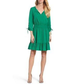 Woven Blouson Dress