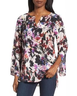 Garden Eclipse Pintuck Blouse