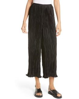 Crescent Pleated Crop Pants