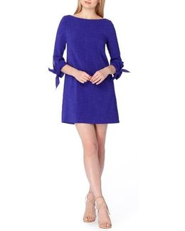 Tie Sleeve A-line Dress