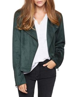Do It Right Faux Suede Moto Jacket