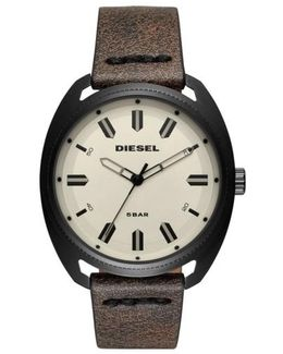 Diesel Fastbak Leather Strap Watch