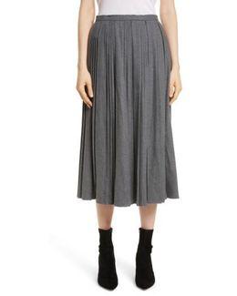 Stretch Flannel Skirt