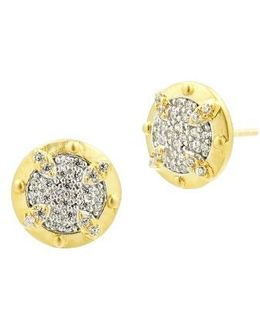 Visionary Fusion Pave Stud Earrings