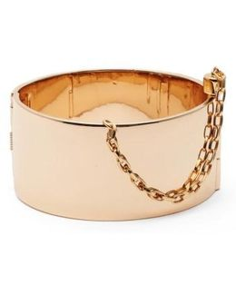 Cuff With Chain Bracelet