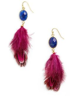 Feather Shoulder Duster Earrings