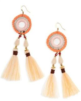 Crochet Tassel Earrings