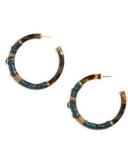 Porto Genuine Snakeskin Hoop Earrings