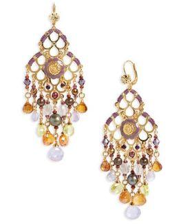 Reine Semiprecious Stone Chandelier Earrings