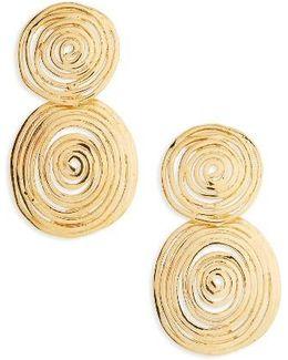 Wave Small Drop Earrings