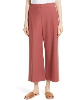 Stretch Suiting Crop Pants