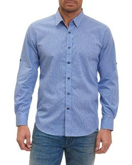 Tailored Fit Houndstooth Sport Shirt