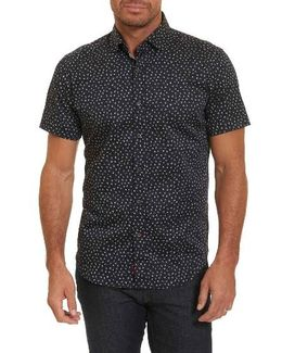 Miki Tailored Fit Print Short Sleeve Sport Shirt