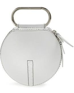 Alix Leather Circle Clutch