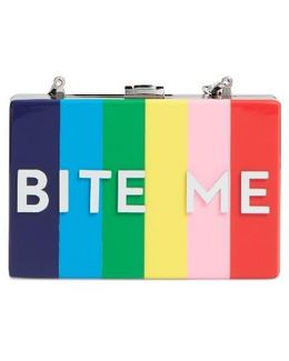Bite Me Box Clutch - Metallic