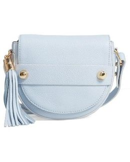 Astor Leather Crossbody Saddle Bag