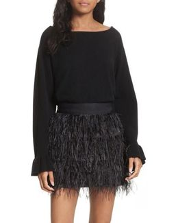 Flare Sleeve Cashmere Sweater