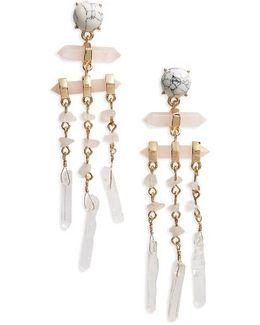 Ava Stone Drop Earrings