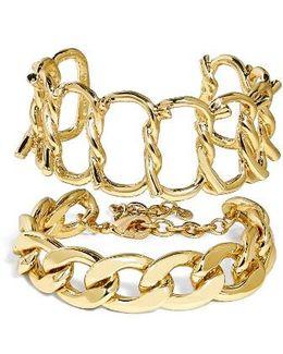 Set Of 2 Chain Bracelets