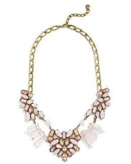Lyla Crystal & Quartz Bib Necklace